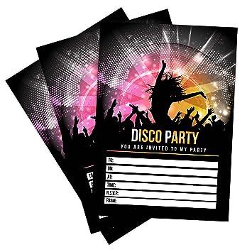 20 x disco party invitations invites kids child adult girls boys 20 x disco party invitations invites kids child adult girls boys birthday party invitations stopboris Gallery