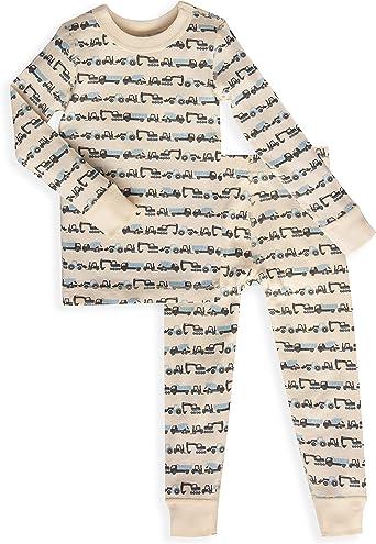 Skylar Luna - Pijama de Manga Larga para niños - 100% algodón Turco orgánico Suave