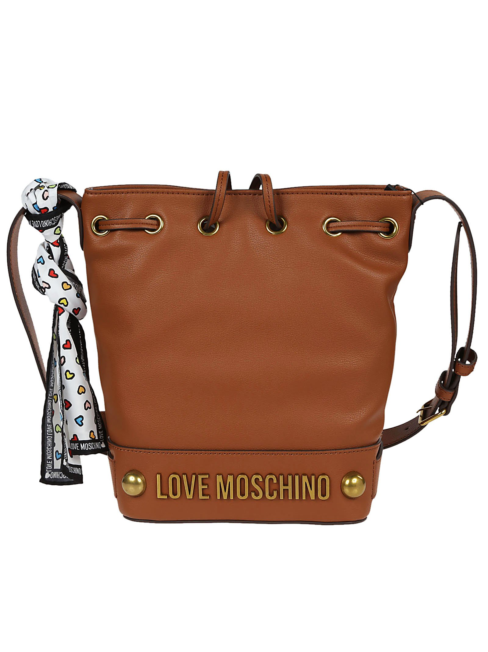 Love Moschino Women's Jc4349pp05k60200 Brown Leather Shoulder Bag