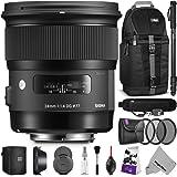 Sigma 24mm F1.4 ART DG HSM Lens for NIKON DSLR Cameras w/ Essential Accessory Bundle