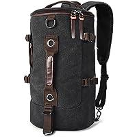 Luxur Retro Duffel Cylinder Bag 27L Canvas Travel Backpack