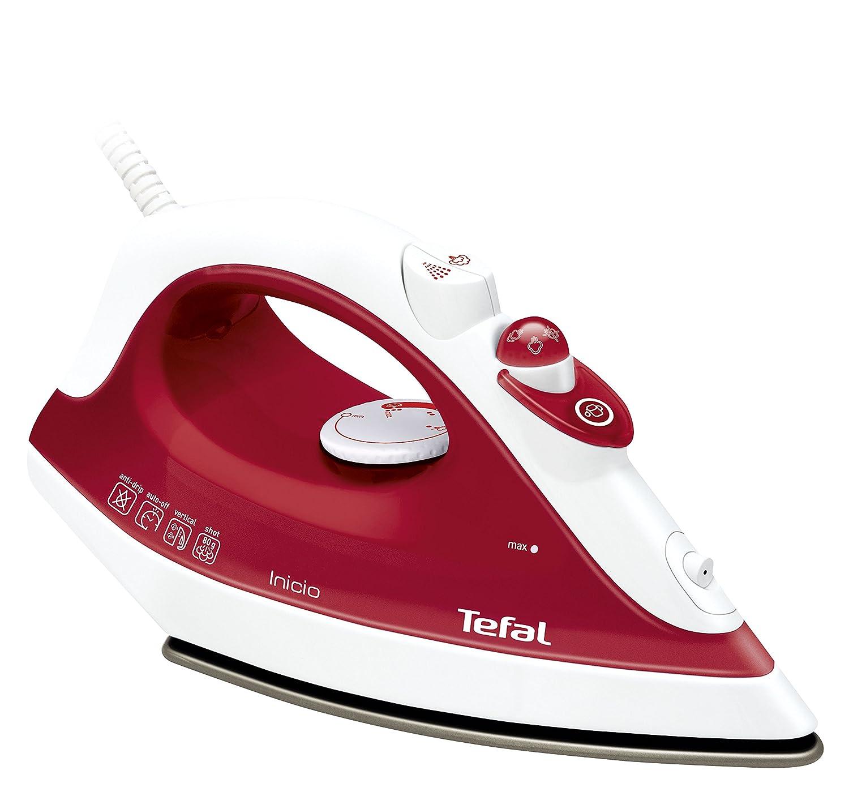 Tefal Prima FV1251E0 Ferro da stiro a secco e a vapore Ceramica 1800W Rosso ferro da stiro