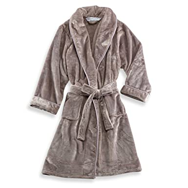 dd43ecac5d 47 quot  L x 26 quot  W Wamsutta Small Medium Plush Robe with Matte Satin