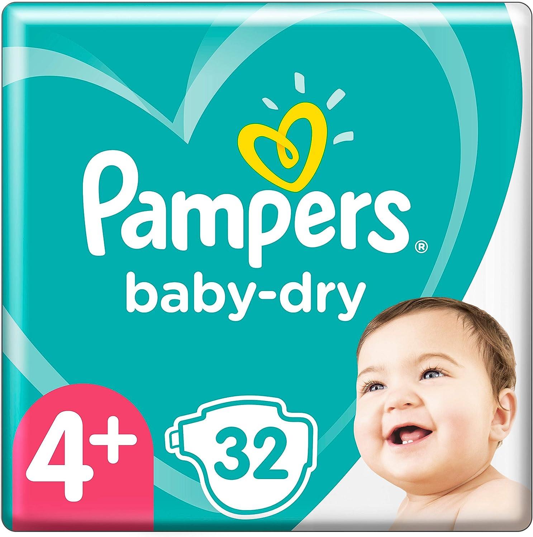 10-15kg bis zu 12/Stunden Rundumschutz 32 Windeln Pampers Baby-Dry Gr/ö/ße 4+