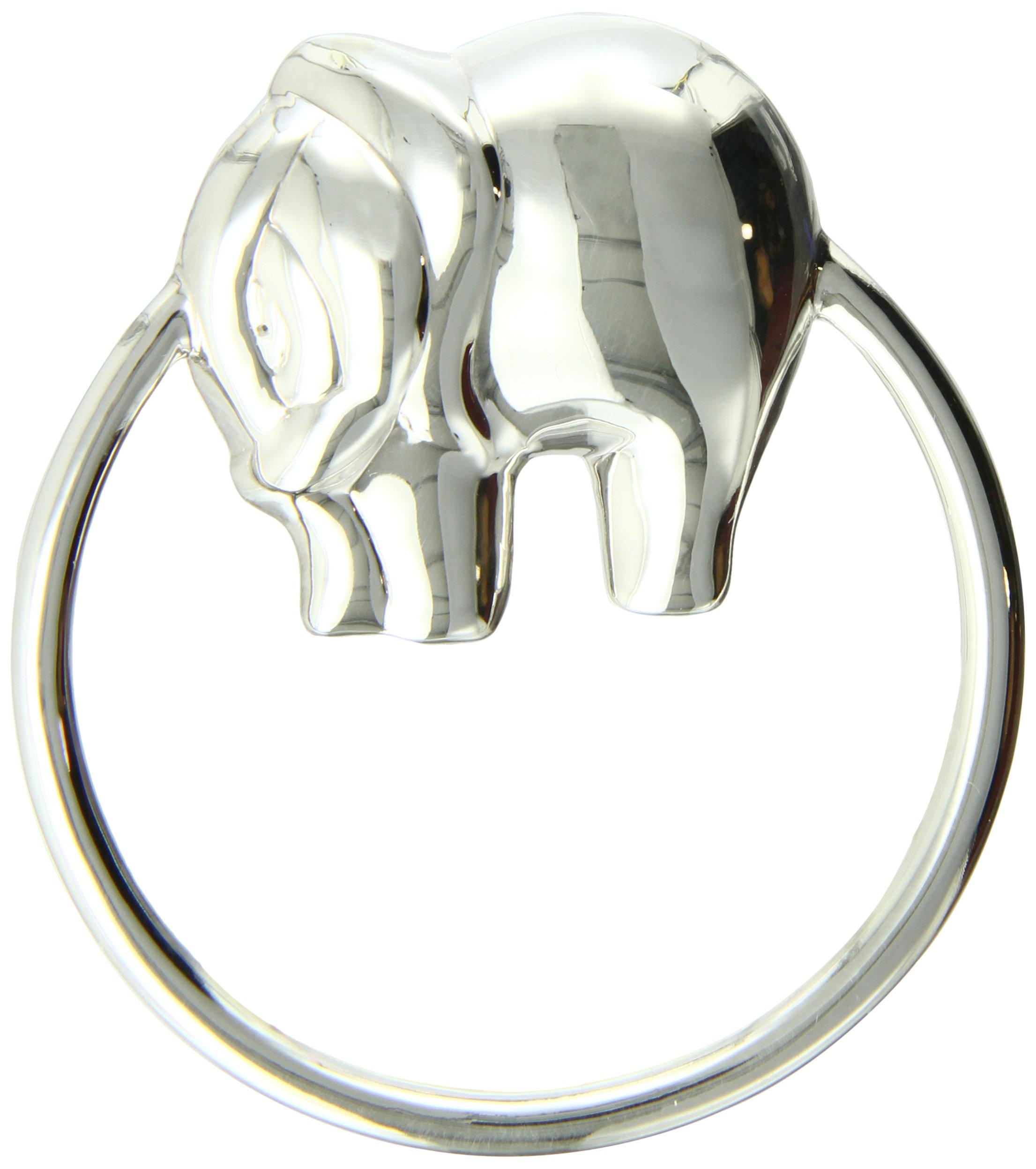 Krysaliis Sterling Silver Baby Rattle, Elephant Ring