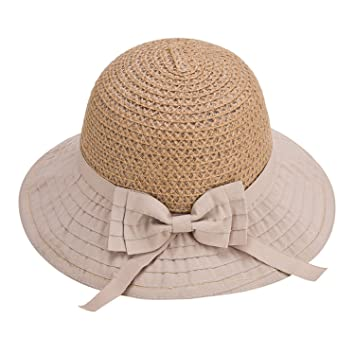 1973e698883 Puissant Fashion Women Sun Hats Classic Foldable Patchwork Wide Brim Straw  Hat Nice Bow Summer Boater