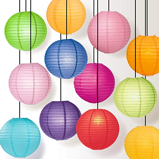 "Orange Wedding Party Event Decoration ak 10/"" inch Chinese Paper Lantern"