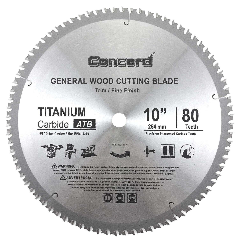 5. Concord Blades WCB1000T080HP Circular Saw Blade