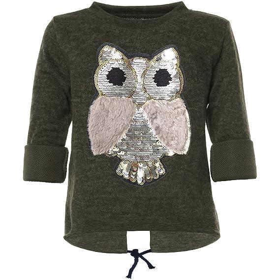 9a59066203 Kinder Pullover Mädchen Pulli Wende Pailletten Sweatshirt Bluse Langarm  21570