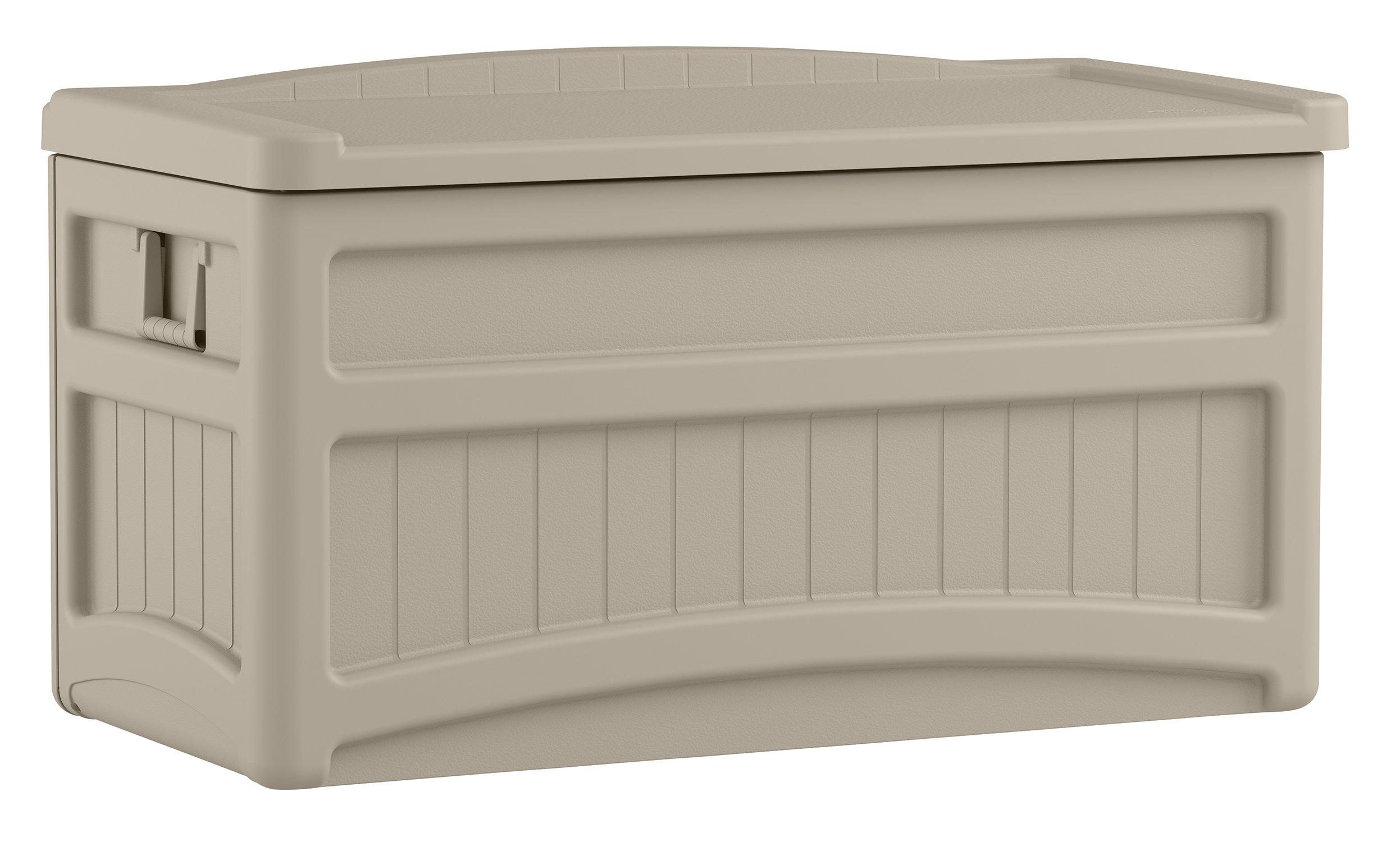 Suncast DB7500 Capacity Taupe Deck Storage Box, 73 gallon