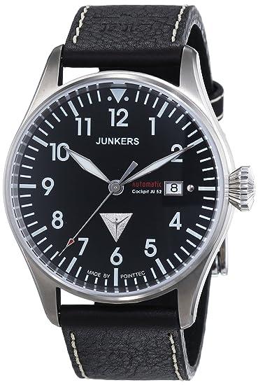 Junkers 61562 - Reloj analógico automático para hombre con correa de piel, color marrón