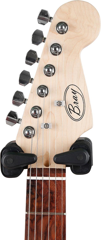 Mate Negro Automático Soporte de pared guitarra instrumento para ...