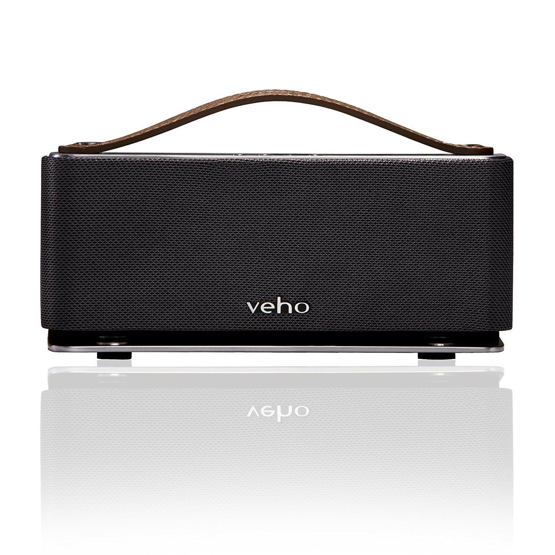 Veho VSS-012-M6 - Altavoz portátil Bluetooth (micrófono incorporado, diseño retro), plateado