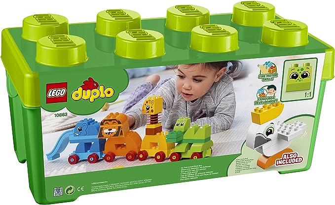 Juguemos Caja de ladrillos: Mis primeros animales LEGO 10863: Amazon.es: Juguetes y juegos