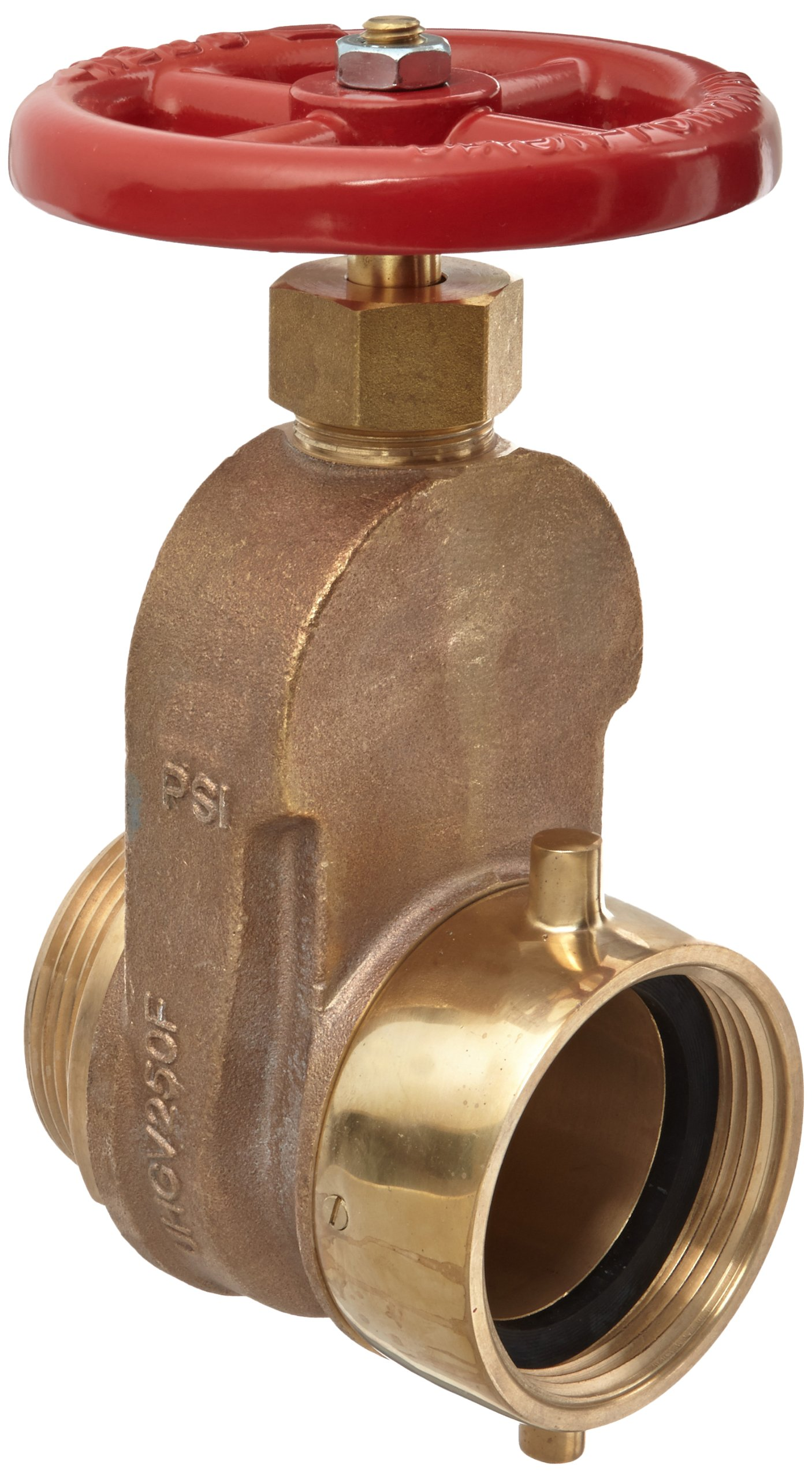 Dixon UHGV250F Brass Single Hydrant Gate Valve with Handwheel, 2-1/2'' NST female x NST male