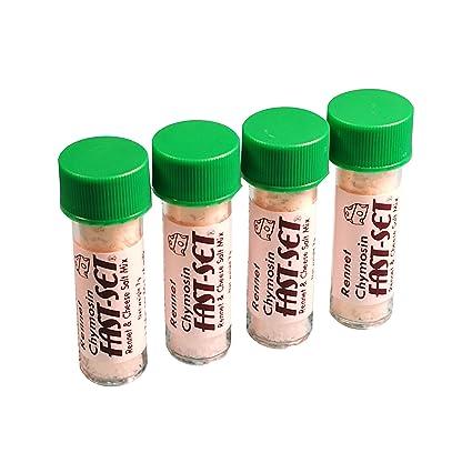 4 x Rennet Chymosin Fast -Set 7 gramos mezcla para 50 litros ...