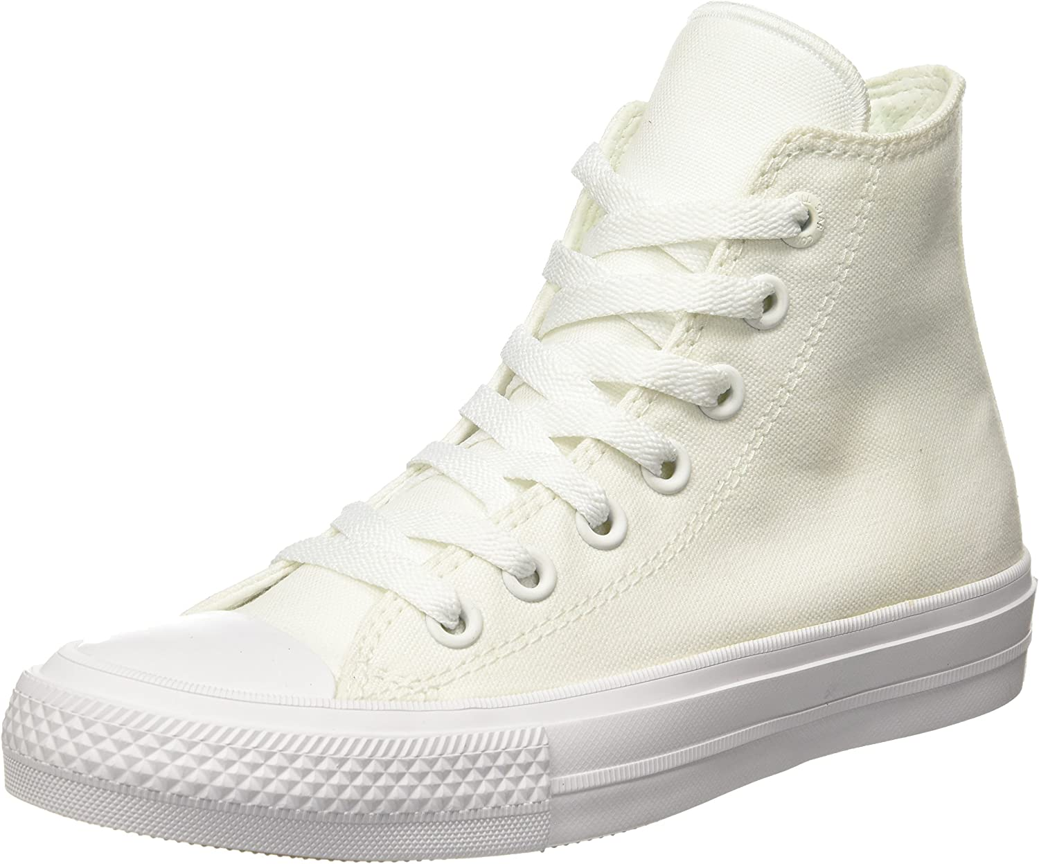 Converse Mens Chuck Taylor All Star II White Sneaker - 10 Men - 12 Women