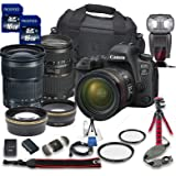 Canon EOS 6D MARK II DSLR Camera Bundle w/ Canon EF 24-105mm f/3.5-5.6 IS STM Lens + Tamron 70-300mm f/4-5.6 Telephoto Lens + 2pc PROSPEED 16GB Memory Cards + Premium Accessory Bundle Kit (18 Items)