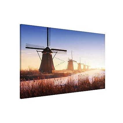Bilderwelten Pizarra magnética - Windmills Of Kinderdijk ...