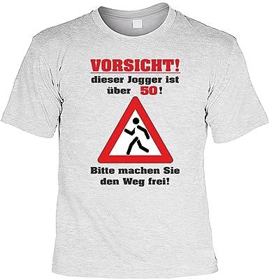 Zum 50 Geburtstag Lustiges Laufer Spruche Tshirt Vorsicht Dieser