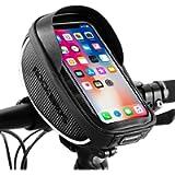 ROCKBROS Bike Phone Mount Bag Bike Front Frame Handlebar Bag Waterproof Bike Phone Holder Case Bicycle Accessories Pouch…