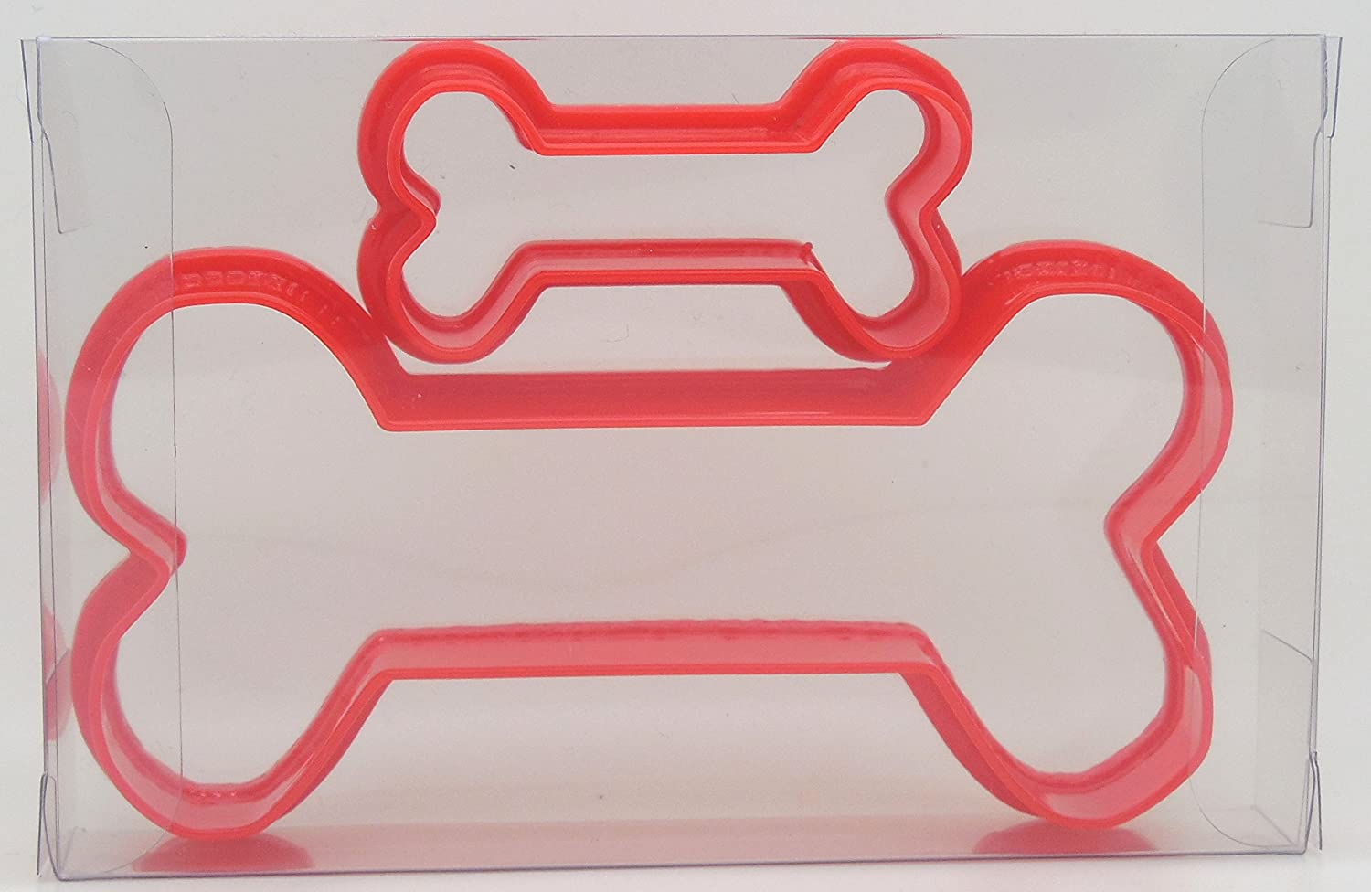 Dog Bone Set of 2 Cookie Cutter, Biscuit, Pastry, Fondant Cutter Goggly
