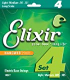 Elixir 14077 Electric Bass Saiten 4 Medium Long Scale Nanoweb Coating