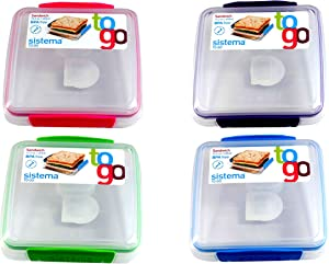 Sistema BPA-Free Reusable Sandwich Storage Container, 2-Pack