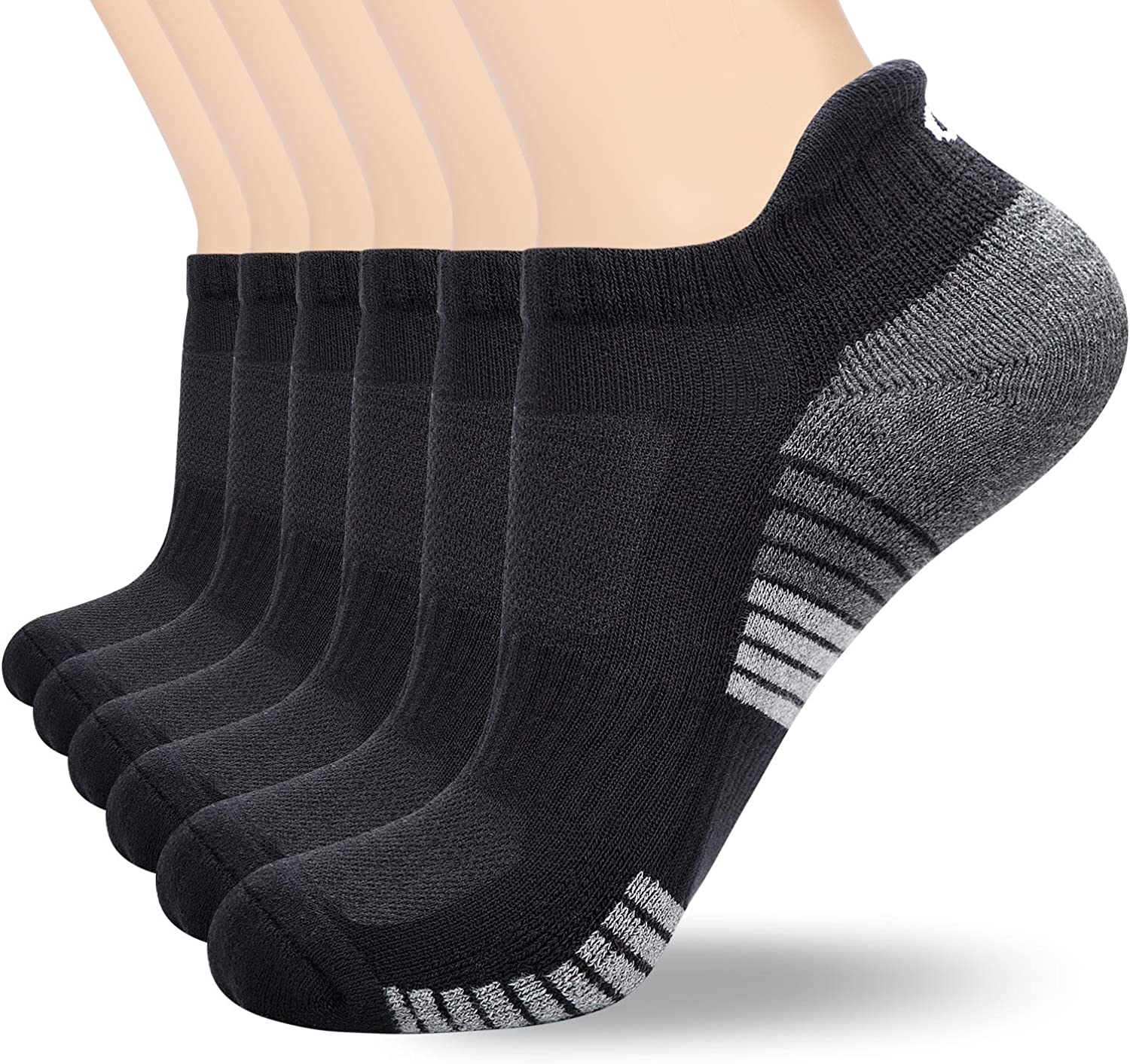 soft plush sole Anqier 6 Pairs Mens