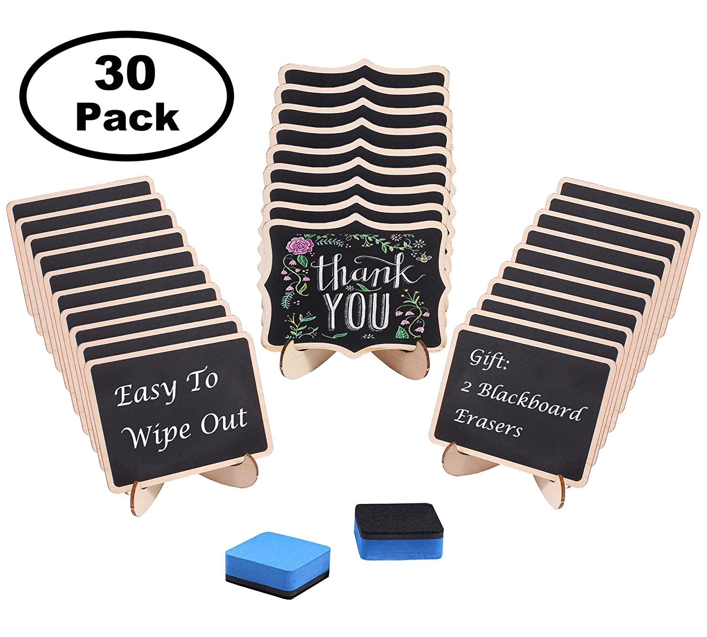 Paquete de 30 mini pizarras con soporte, pizarras ...