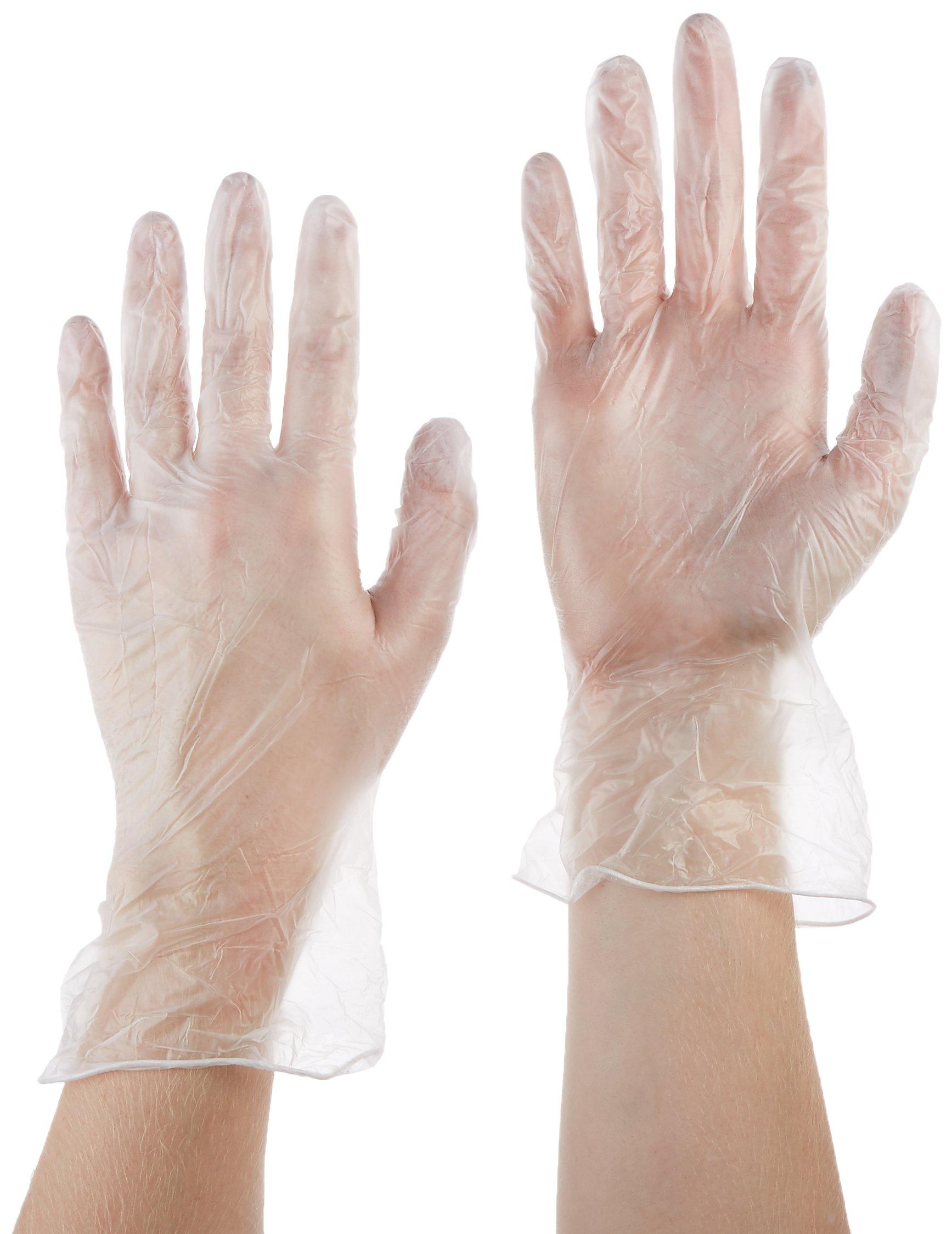 Tradex VMD5101 Ambitex Vinyl Powdered Multi-Purpose Gloves, Medium, Clear (Pack of 1000) by Tradex