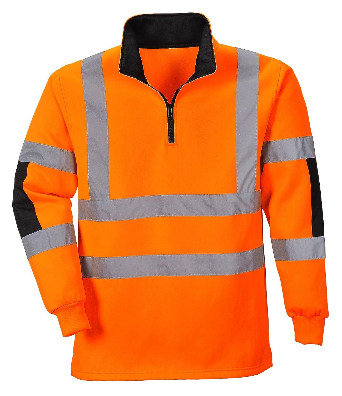 PORTWEST B308 - XENON Rugby Shirt, 1 Stü ck, S, Orange, B308ORRS