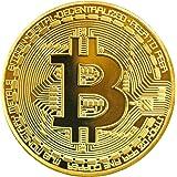 Moneda física de Bitcoin revestida en oro auténtico de 24