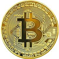 TS Trade® Gold / Silver / Copper Plated Bitcoin Coin Collectible Gift BTC Coin Art Collection Physique