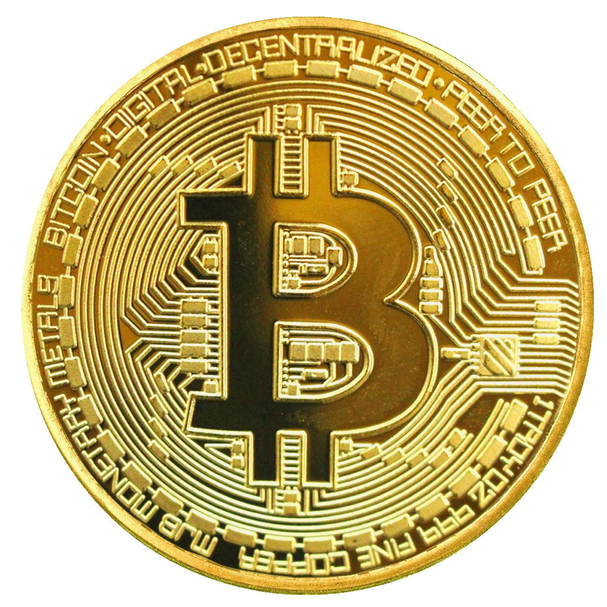 BAQI Gold Plated Bitcoin Coin Collectible Gift BTC Coin Art Collection  Physical- Buy Online in Israel at Desertcart