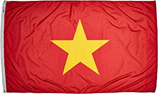 product image for Annin Flagmakers Model 199240 Vietnam Flag Nylon SolarGuard NYL-Glo, 5x8 ft, 100% Made in USA to Official United Nations Design Specifications