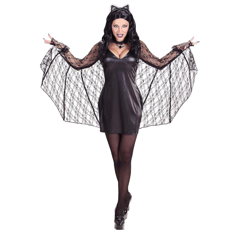 WIDMANN ? Disfraz de mujer murciélago con alas ? L: Amazon.es ...