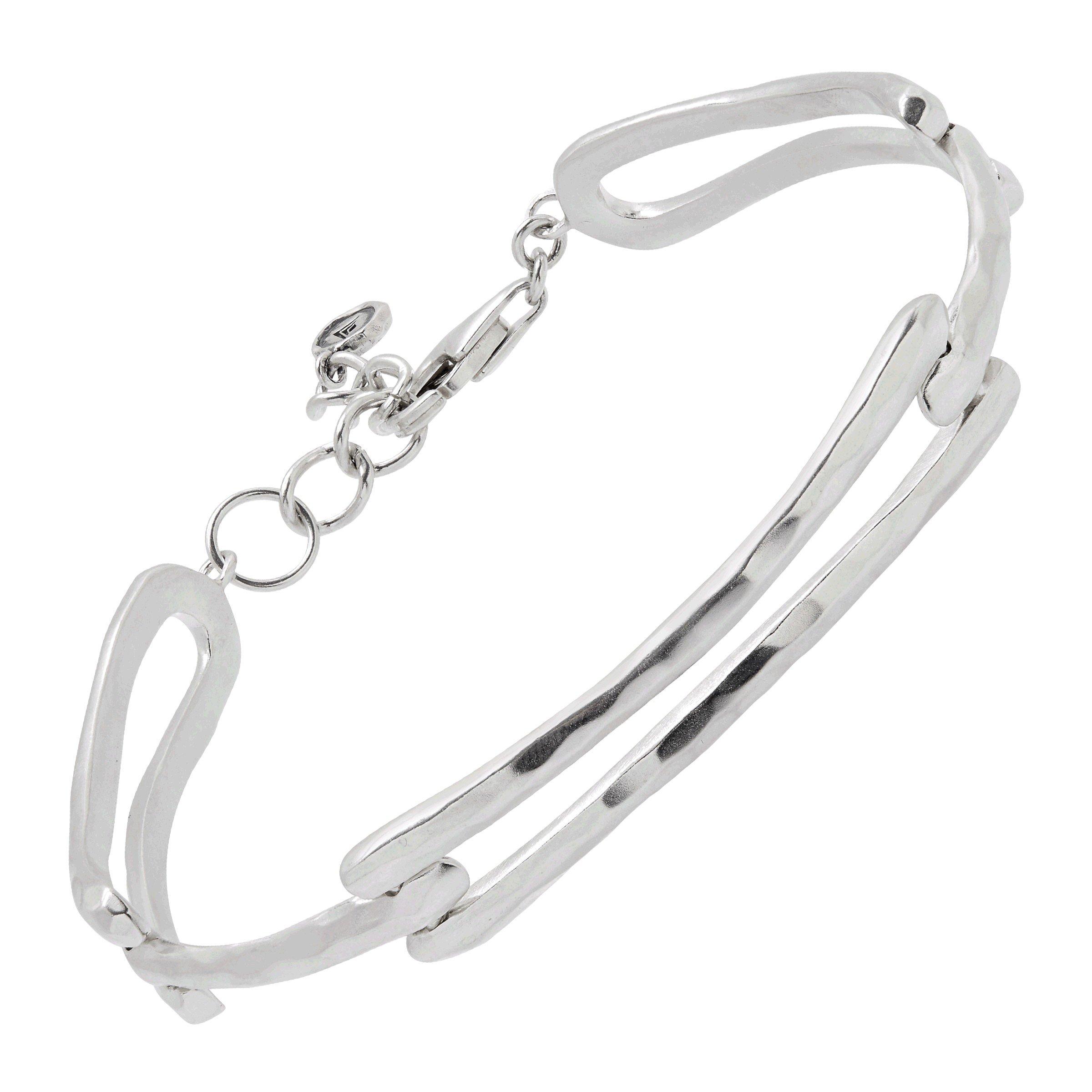 Silpada 'Triple Link' Bracelet in Sterling Silver, 7'' + 1'' Extender