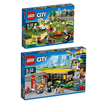 LEGO City 2pcs. Set 60154 60134 Bus Station + City Town Fun in the ...