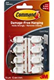 Command Small Cord and Wire Clips with Command Adhesive Strips