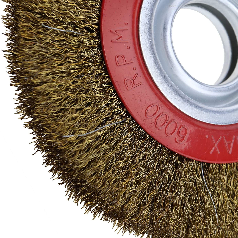 Drahtb/ürsten Schleifb/ürsten 125mm f/ür Einhand Winkelschleifer Stahldraht ideal zum Entrosten