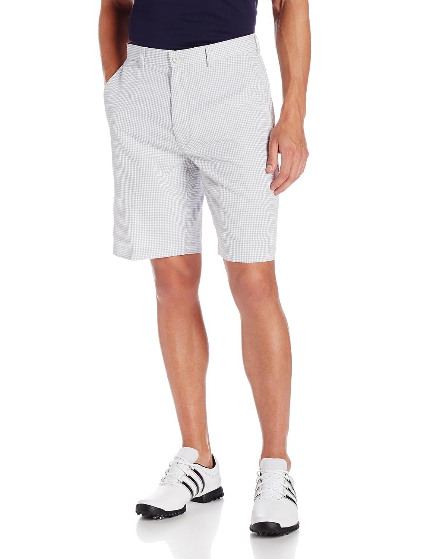 PGA TOUR Mens Flat Front Seersucker Gingham Short Bright White 40 PVBS4057