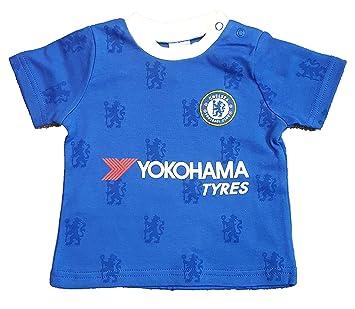 Official Chelsea FC Baby Toddler Kit T-Shirt - 2016 17 Season (12 ... 48c1454e5