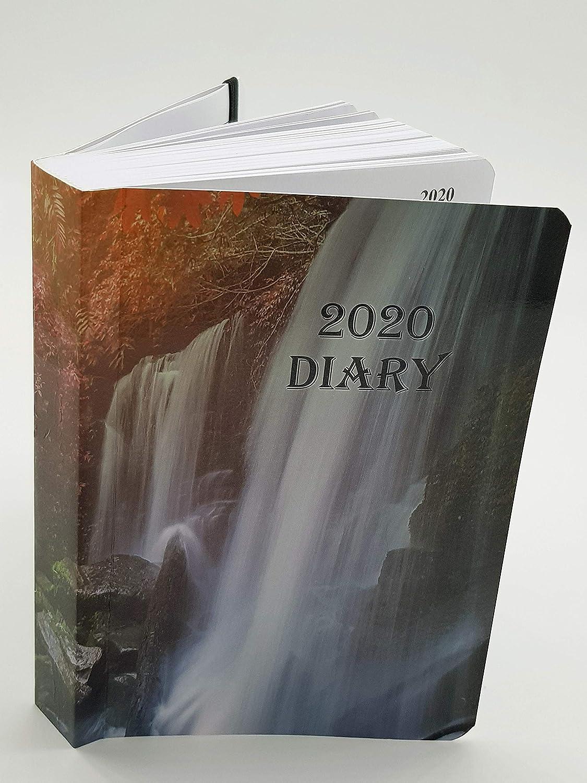 Agenda de 2020, tamaño A6, página completa, con tapa satinada y brillo solar, color cascada