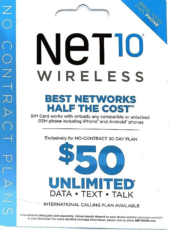 Net10 tarjeta SIM para Estados Unidos con ilimitado de ...