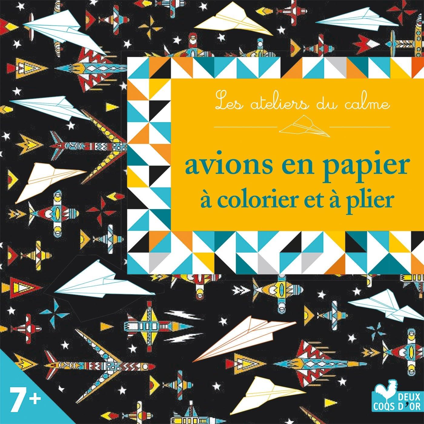 Avions en papier à colorier et plier - mini boite avec accessoires Broché – 24 mai 2017 Cinzia Sileo Deux Coqs d' Or 2013239157 Coloriage