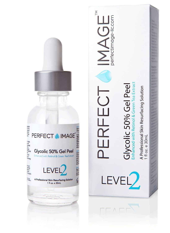 Glycolic Acid 50% Gel Peel - Enhanced with Retinol & Green Tea Extract (Professional Skin Peel)1 ounce