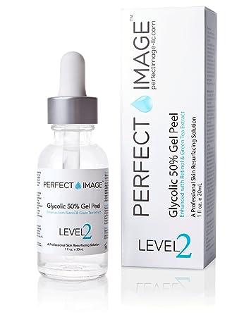 Glycolic Acid 50 Gel Peel – Enhanced with Retinol Green Tea Extract Professional Skin Peel 1 ounce