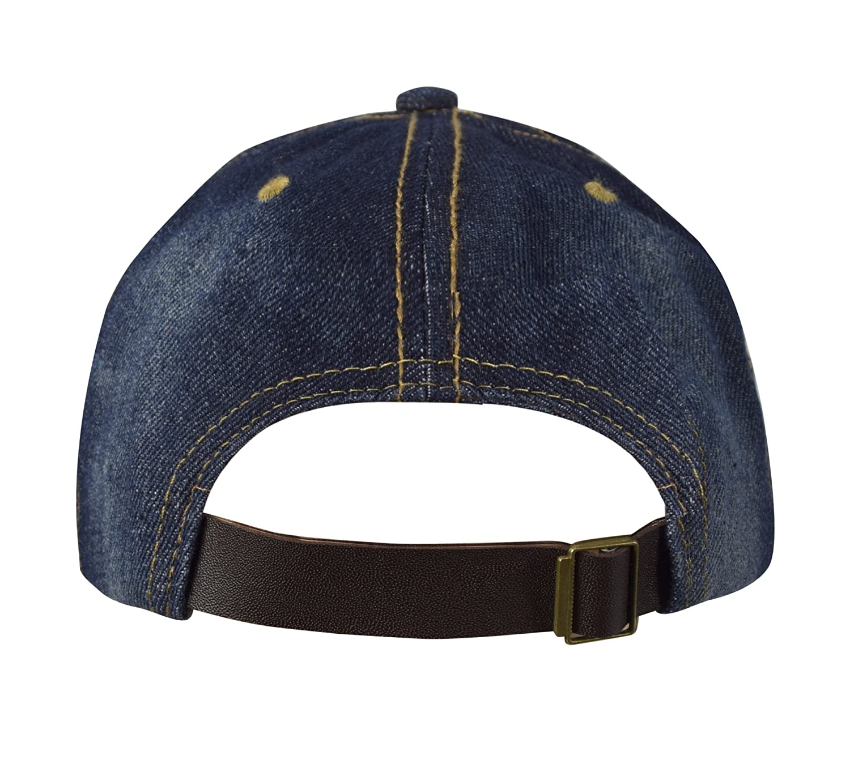 35d1f3a005739 Peach Couture Unisex Sun Hats Washed Denim Hat Sports Baseball Cap Dark  Denim at Amazon Men s Clothing store