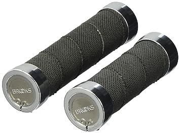 Fahrradteile & -komponenten Brooks Cambium Rubber Grips Fahrrad Griffe Lang 130mm Standard Schwarz Griffig
